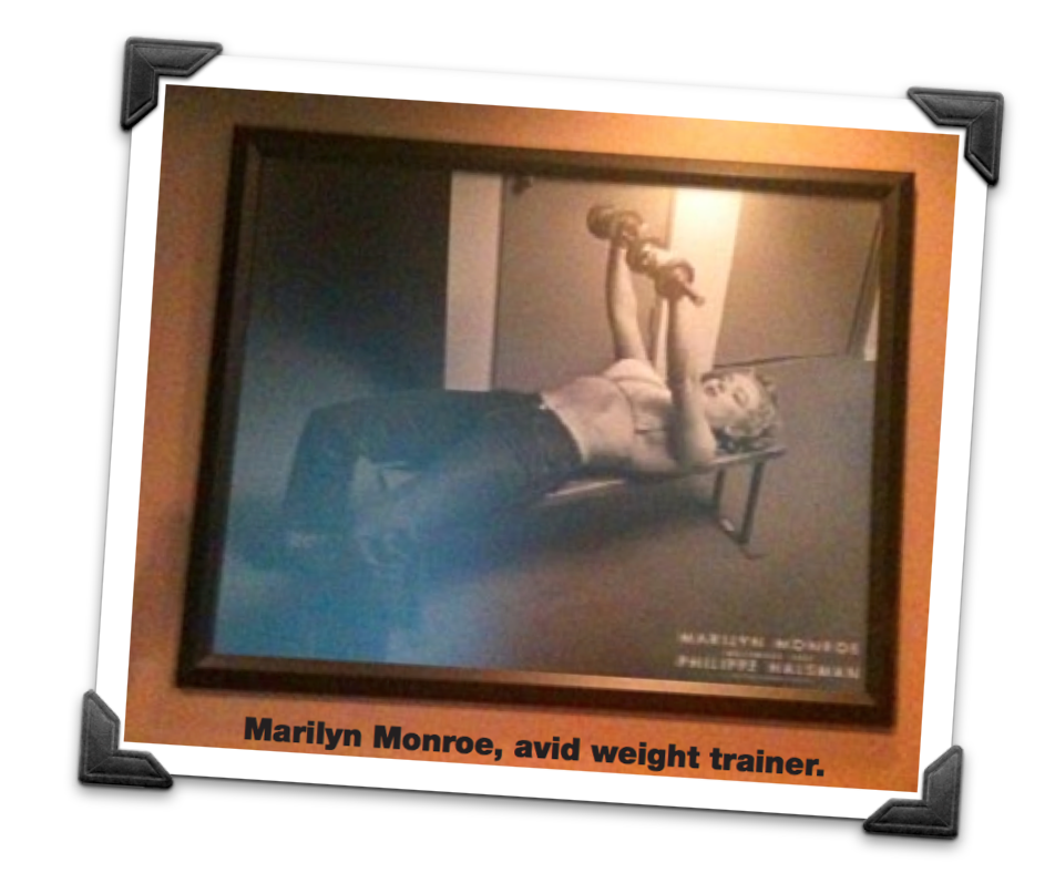 Marilyn Monroe Avid Weight Trainer